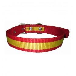 Collar para perro nylon bandera españa